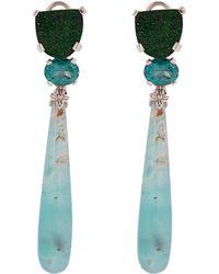Stephen Dweck - Silver Multi-stone Drop Earrings - Lyst