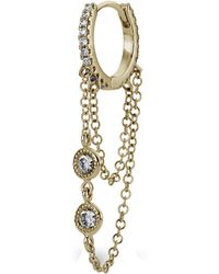 "Maria Tash - 5/16"" Double Chain Diamond Eternity Hoop Earring - Lyst"