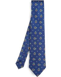 Liberty - Thorington Printed Silk Tie - Lyst