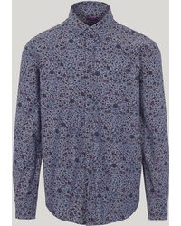 Liberty - Imran Chambray Cotton Long-sleeved Lasenby Shirt - Lyst