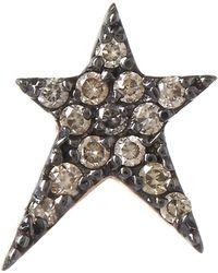 Kismet by Milka - Rose Gold Struck Small Star Diamond Earring - Lyst