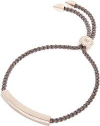 Monica Vinader - Rose Gold-plated Mink Cord Linear Friendship Bracelet - Lyst