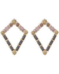 Larkspur & Hawk - Gold-dipped Silver Caterina Kite Earrings - Lyst