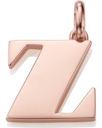 Monica Vinader - Rose Gold-plated Alphabet Pendant A-z - Lyst