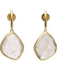 Monica Vinader - Gold Vermeil Large Siren Moonstone Nugget Drop Earrings - Lyst