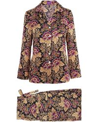 Liberty - Genevieve Long Silk Pyjama Set - Lyst