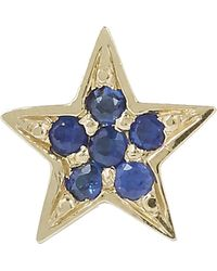 Andrea Fohrman - Gold Mini Star Blue Sapphire Stud Earrings - Lyst