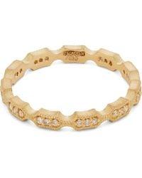 Satomi Kawakita - Gold White Diamond Eternity Ring - Lyst