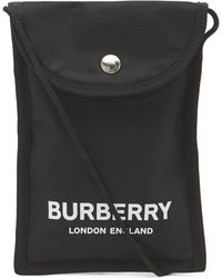 Burberry Logo Print Nylon Phone Case Lanyard