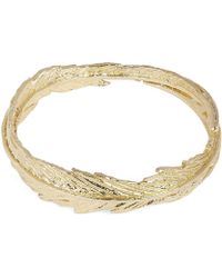 Alex Monroe - Gold Slim Plume Wreath Ring - Lyst