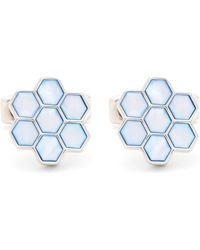 Simon Carter - Honeycomb Mother Of Pearl Cufflinks - Lyst
