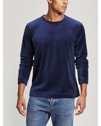 Edwin - Moze Velour Sweater - Lyst