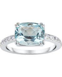 Dinny Hall - White Gold Laura Aquamarine And Diamond Ring - Lyst