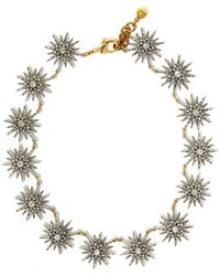 Lulu Frost - Silver-tone Crystal Radiant Necklace - Lyst
