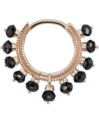 "Maria Tash - 5/16"" Black Diamond Coronet Hoop Earring - Lyst"