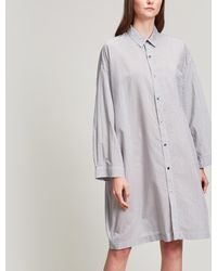 Tomorrowland - Stripe Shirt Dress - Lyst