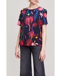Paul Smith - Jungle Print Silk T-shirt - Lyst