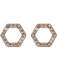 Astley Clarke - Honeycomb Stud Earrings - Lyst