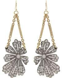 Lulu Frost - Gold-plated Camellia Earrings - Lyst
