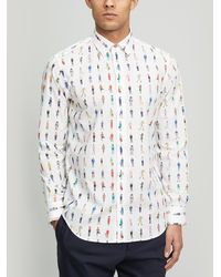 Paul Smith - People Print Cotton Shirt - Lyst