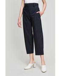 Erika Cavallini Semi Couture - Pinstripe Wide Leg Trousers - Lyst