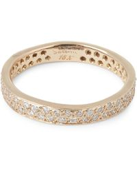 Satomi Kawakita - Gold Double Row White Diamond Ring - Lyst