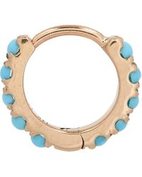 "Maria Tash - 1/4"" Natural Turquoise Eternity Earring - Lyst"