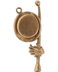 Annina Vogel - Gold Top Hat And Cane Charm - Lyst