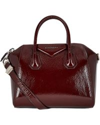 Givenchy - Antigona Creased Patent Leather Tote Bag - Lyst