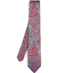 Liberty - Felix Raisin Woven Silk Tie - Lyst