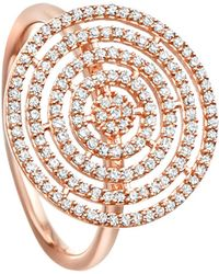 Astley Clarke - Icon Aura 14ct Rose-gold And Diamond Ring - Lyst