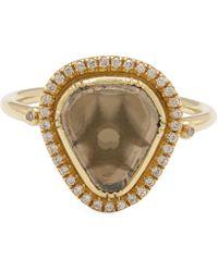 Brooke Gregson - Gold Starlight Triangle Diamond Slice Pavé Ring - Lyst