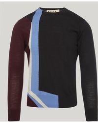 Marni - Graphic Wool Jumper - Lyst