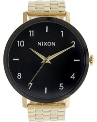 Nixon - Phantom Arrow Gold Watch - Lyst