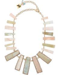 Rosantica - Gold-tone Incantesimo Berilio Stone Crystal Necklace - Lyst