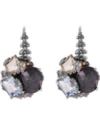 Stephen Dweck - Silver Rutilated Quartz Cluster Earrings - Lyst