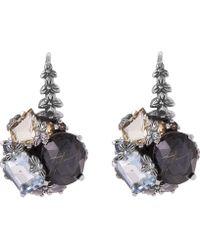 Stephen Dweck - Silver Rutilated Quartz Cluster Earrings - Lyst