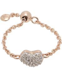 Monica Vinader - Rose Gold Vermeil Nura Diamond Heart Friendship Ring - Lyst