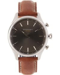 Kronaby - Sekel Leather Smart Watch - Lyst
