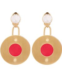 Marni - Round Metal And Resin Clip-on Earrings - Lyst