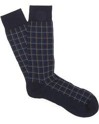 Pantherella - Saffron Summer Check Cotton Socks - Lyst