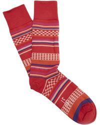 Paul Smith - Multi Pattern Stripe Socks - Lyst