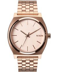 Nixon - Rose Gold-tone Time Teller Stainless Steel Watch - Lyst