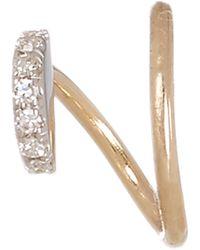 Maria Black - Gold Diamond Lila Blanc Twirl Earring Left - Lyst