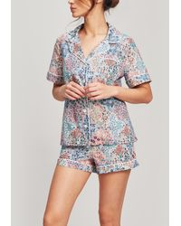 Liberty - Henlow Tana Lawntm Cotton Short Pyjama Set - Lyst