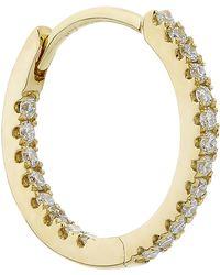 "Maria Tash - 3/8"" Diamond Eternity Earring - Lyst"
