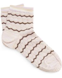 5036641a41a Missoni - Metallic Zig-zag Socks - Lyst
