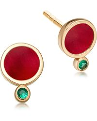 Astley Clarke - Ruby Mars Stud Earrings - Lyst