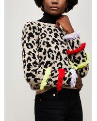 Hayley Menzies - Sahara Leopard Print Cashmere Jumper - Lyst