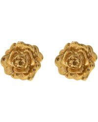 Alex Monroe | Gold-plated Rose Damasca Stud Earrings | Lyst